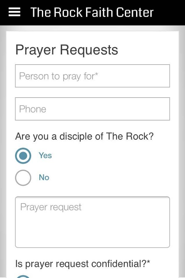 The Rock Faith Center- screenshot