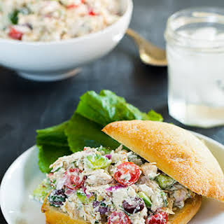 Greek Chicken Salad Sandwiches.
