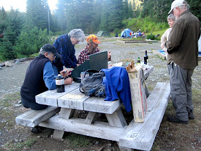Photo: Dinner at Mowich Lake campground
