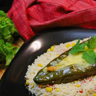 Seafood Stuffed Poblano Peppers.