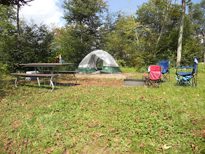 Photo: Campsite 12 at the Balsam Mountain Campground.  The elevation was over 5000' so there were some nice views.