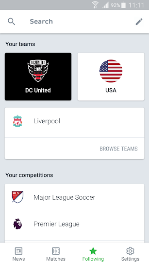 Onefootball - Soccer Scores screenshot for Android