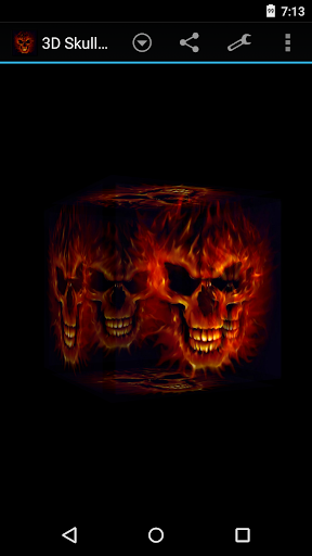 3D头骨着火现场壁纸|玩漫畫App免費|玩APPs