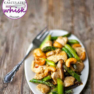 Cashew Chicken with Asparagus & Shiitake Mushrooms