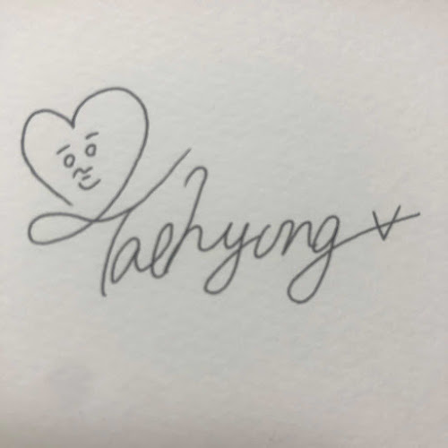 All V's Signature that ARMYs' Created for Him.