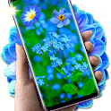 Blue Magic Flowers Free 3D 🌼 HD Live Wallpapers icon