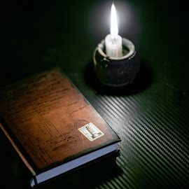 A Book by Muhsin Zaenal - Artistic Objects Other Objects ( #quote, #a6000, #candle, #dark, #book, #sony, #vintage, #photo, #fantasy, #light )