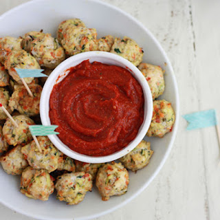 Pesto Chicken Veggie Meatballs