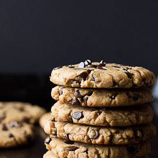 Oil Free Peanut Butter Chocolate Chip Cookies.