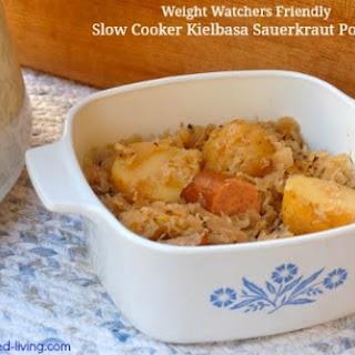 Easy Slow Cooker Kielbasa Sauerkraut Potatoes.