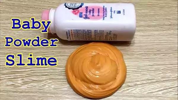 cara membuat slime dari bedak bayi