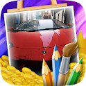Cars Coloring Game for Kids icon