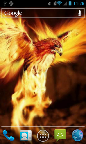 Fiery Eagle Live Wallpaper Android App Screenshot