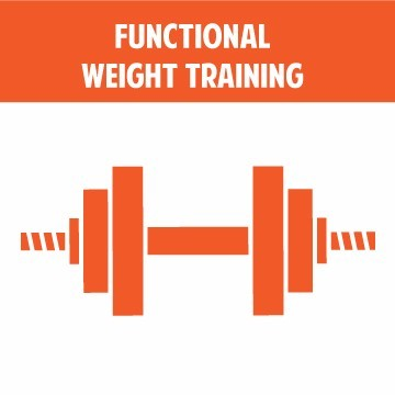 Specialized training in functional weight training.