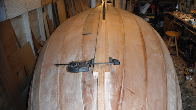 Photo: The keel rub strakes will be much longer and tapered more than what is called for on the plans.