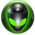 poweramp skin alien green Icon