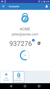 Oracle Mobile Authenticator - náhled