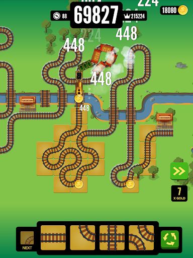 Gold Train FRVR - Best Railroad Connection Game - screenshot