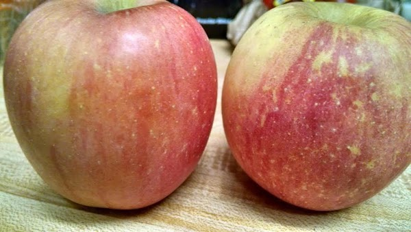 Slice your apple--peeled or unpeeled, as you like
