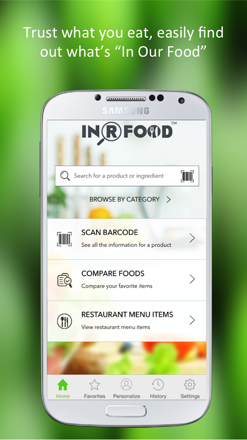 InRFood - Nutrition & Shopping- screenshot