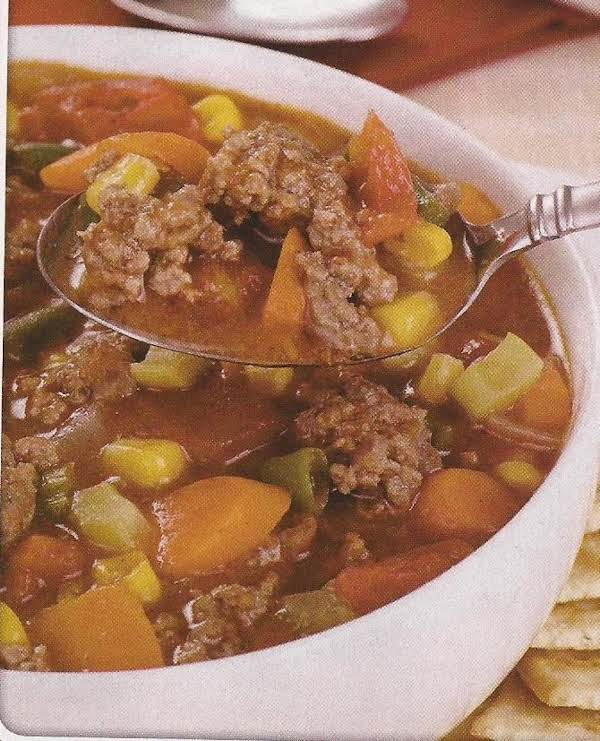 Easy Crockpot Hamburger Soup Recipe