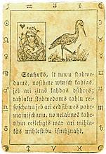 Photo: 1876. J.Schablowsky Lenormand kártya (Jelgava, Kurlandia, Russia)