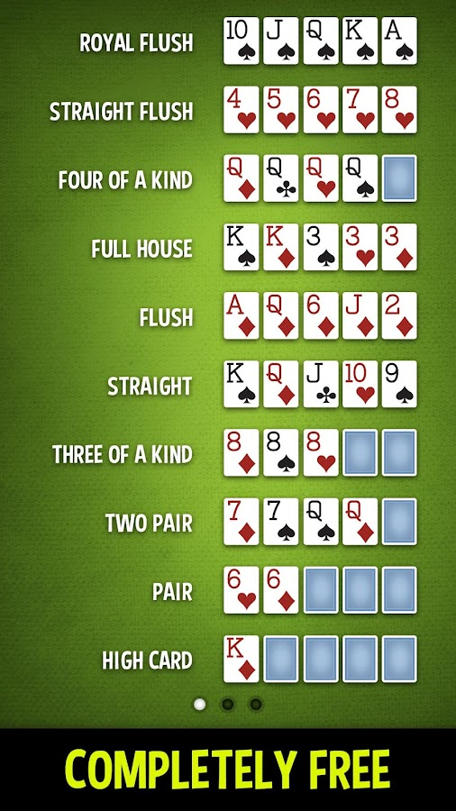 free card games texas holdem poker