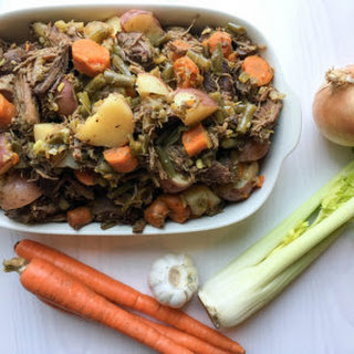 Pulled Roast Beef & Veggies with Paleo Gravy