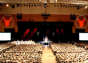 Photo: Friends, family and over 1,000 deploying Minnesota National Guard Soldiers gather at Roy Wilkins auditorium for the 34th Red Bull Infantry Division Deployment Ceremony Feb. 10 in St. Paul, Minn. Photo by Sgt. Dajon Schafer.