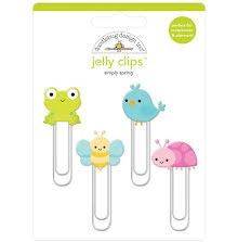 Doodlebug Jelly Clips 4/Pkg - Simply Spring