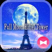 Tải Game Hình nền xinh xắn Full Moon Eiffel Tower