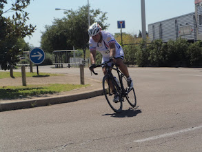 Photo: Jean Luc Berger on his way to the final lap