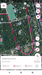 Just Draw It! - Route planner & distance finder Screenshot