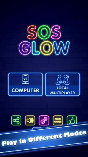 SOS Glow: Offline Multiplayer Board screenshot 1