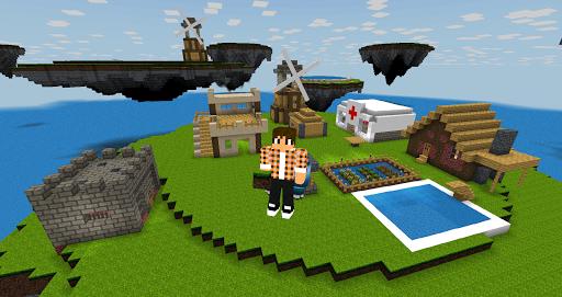 Télécharger Gratuit Sky & Block Race 3D : multiplayer APK MOD (Astuce) screenshots 1