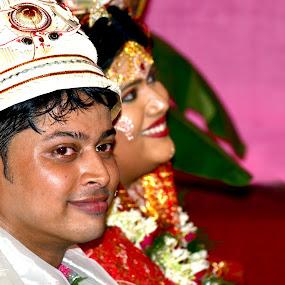 by Anindya Sankar Dey - Wedding Bride & Groom