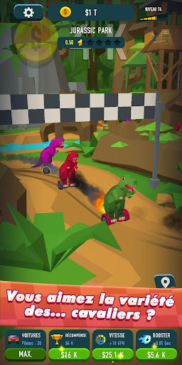 Code Triche Idle Race Rider u2014 Car tycoon simulator APK MOD screenshots 3