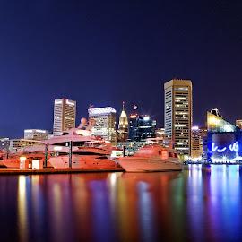 Baltimore Skyline by Monish Majumdar - City,  Street & Park  Skylines
