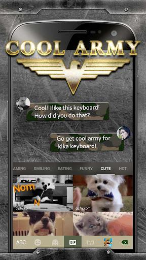 Cool Army Camo Keyboard Theme screenshots 3