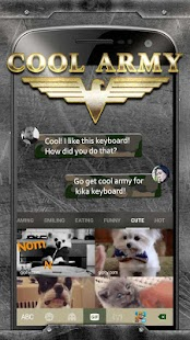 Cool Army Camo Keyboard Theme - náhled