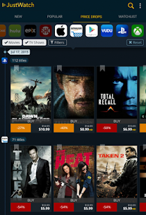 JustWatch – Search Engine for Streaming and Cinema 12