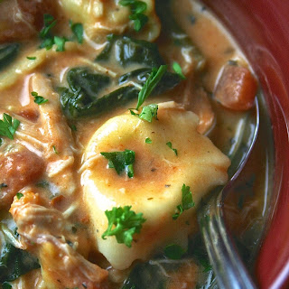 Creamy Chicken Spinach Soup Recipes.
