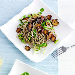 Soba Noodle Salad with Teriyaki Mushrooms Recipe