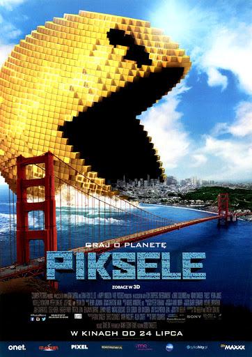 Przód ulotki filmu 'Piksele'