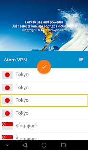 Atom VPN (100% free) 3.1.2 Mod APK Latest Version 2
