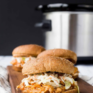 Slow Cooker Barbecue Pulled Chicken - Cranberry Sherry BBQ Sauce