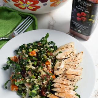 Kale, Quinoa and Roasted Sweet Potato Salad.