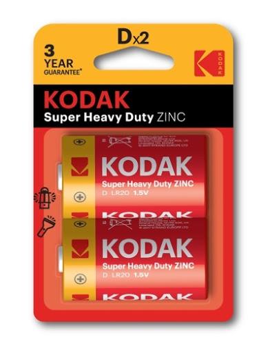bateria kodak alcalina extralife d 2und