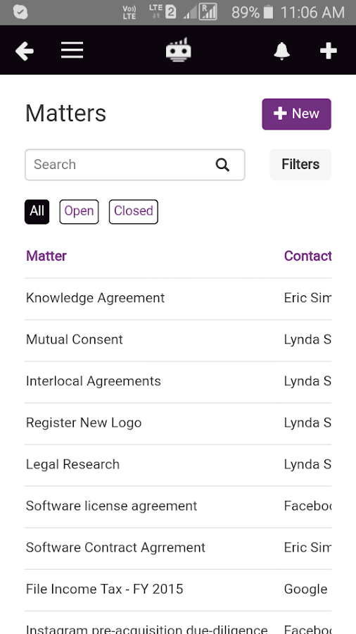 LawGro Law Practice Management- screenshot