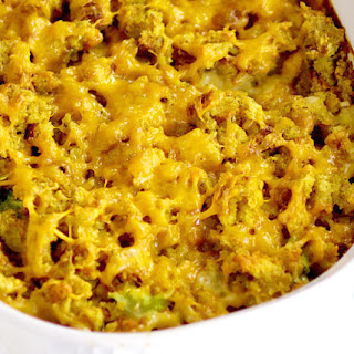 Cheesy Broccoli Stuffing Casserole